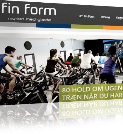 Ny hjemmeside til Fin Form