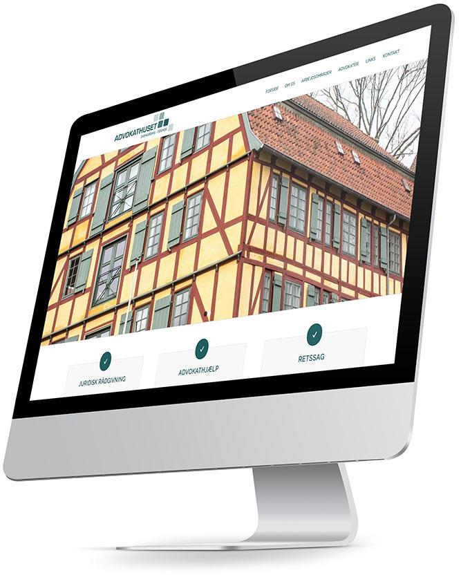 Hjemmeside design til Advokathuset Svendborg