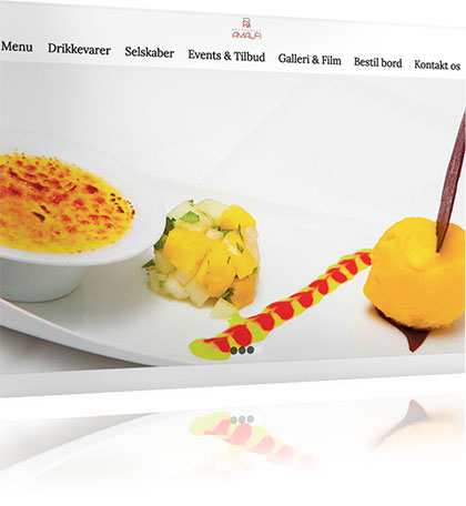 Restaurant Amalfi Hjemmeside