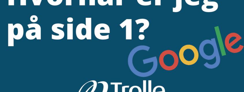 Hvornår er jeg på side 1 på Google?