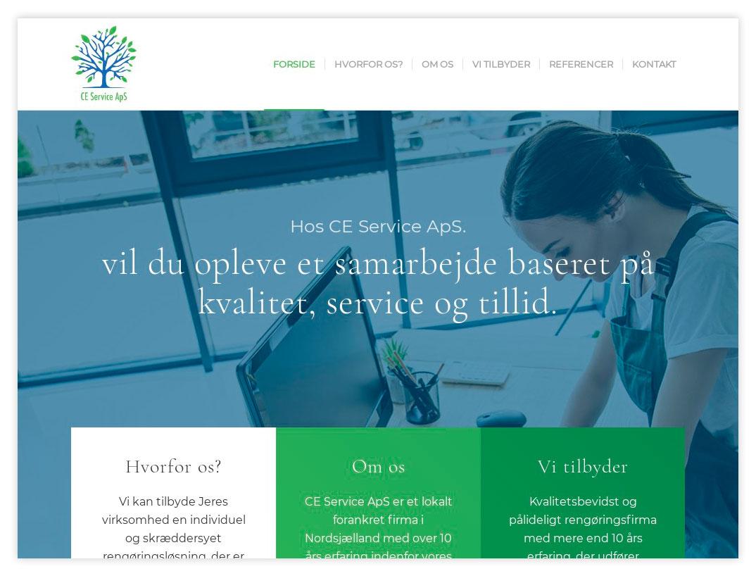 Hjemmeside til CE Services
