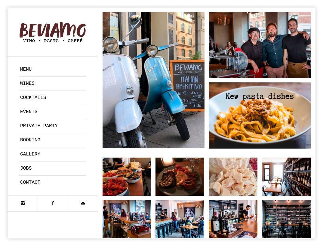 Hjemmeside til Beviamo