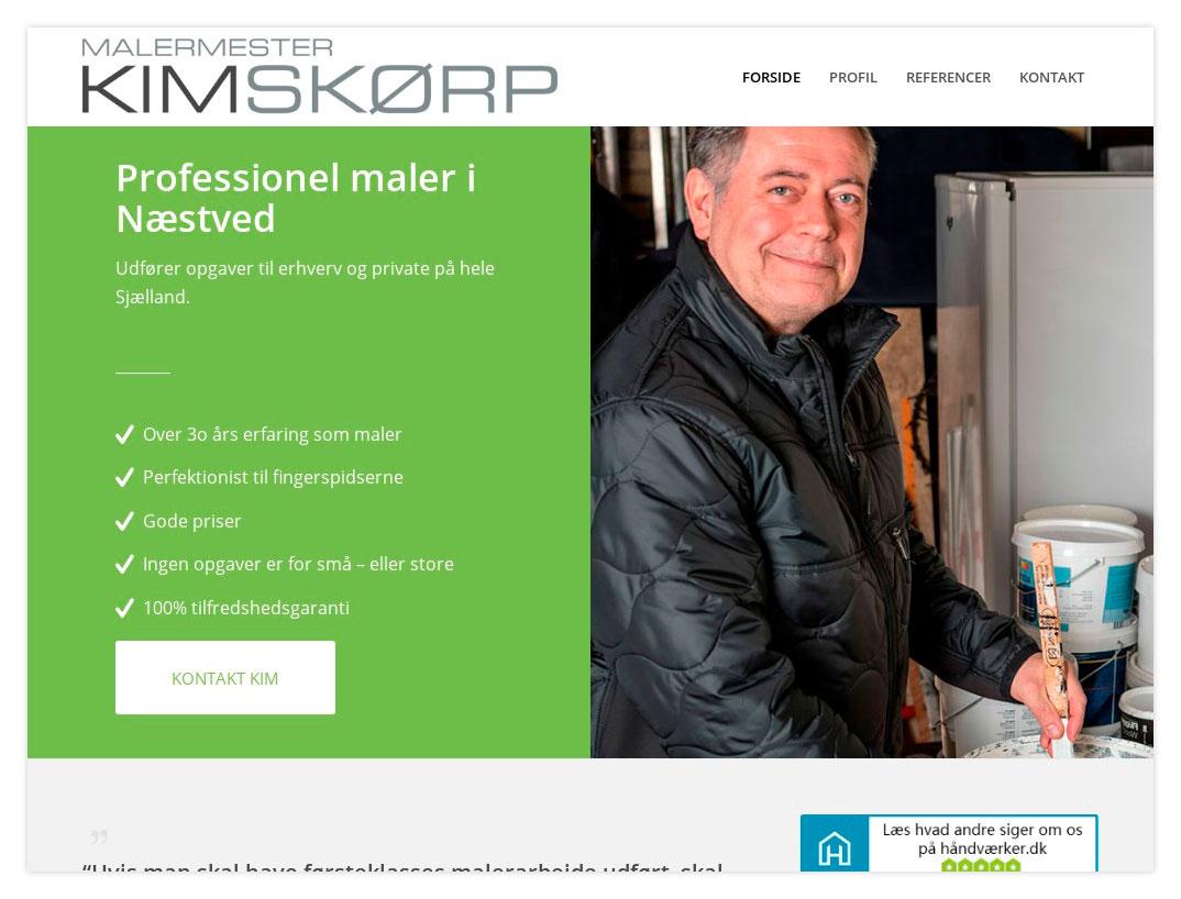 Hjemmeside til Kim Skørp