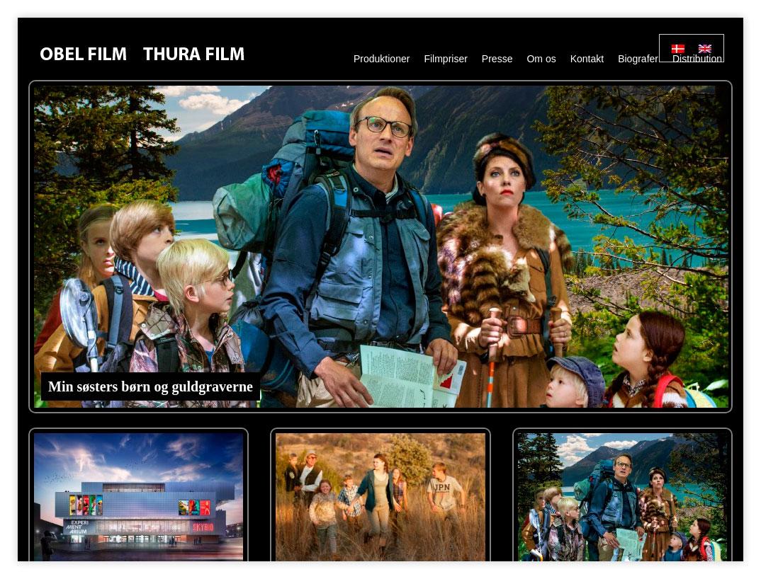 Hjemmeside til Obel Film