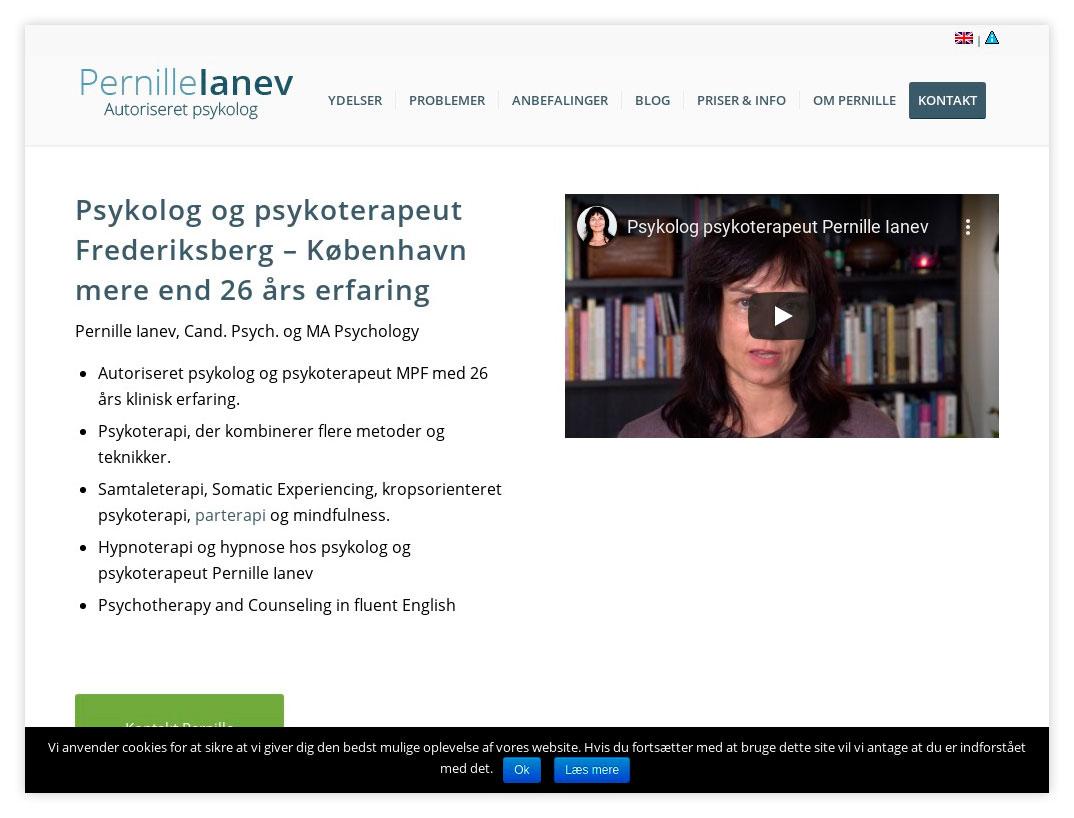 Hjemmeside til Psykolog Pernille Ianev