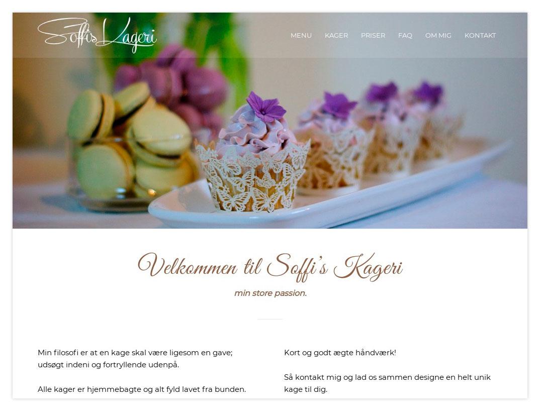 Soffis Kageri Hjemmeside